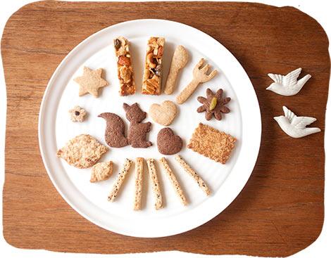 オーガニック素材のお茶とお菓子